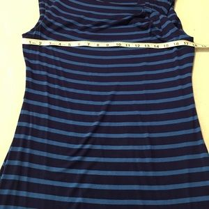 Calvin Klein Dresses - Calvin Klein Blue Striped Dress Twist Shoulder 12